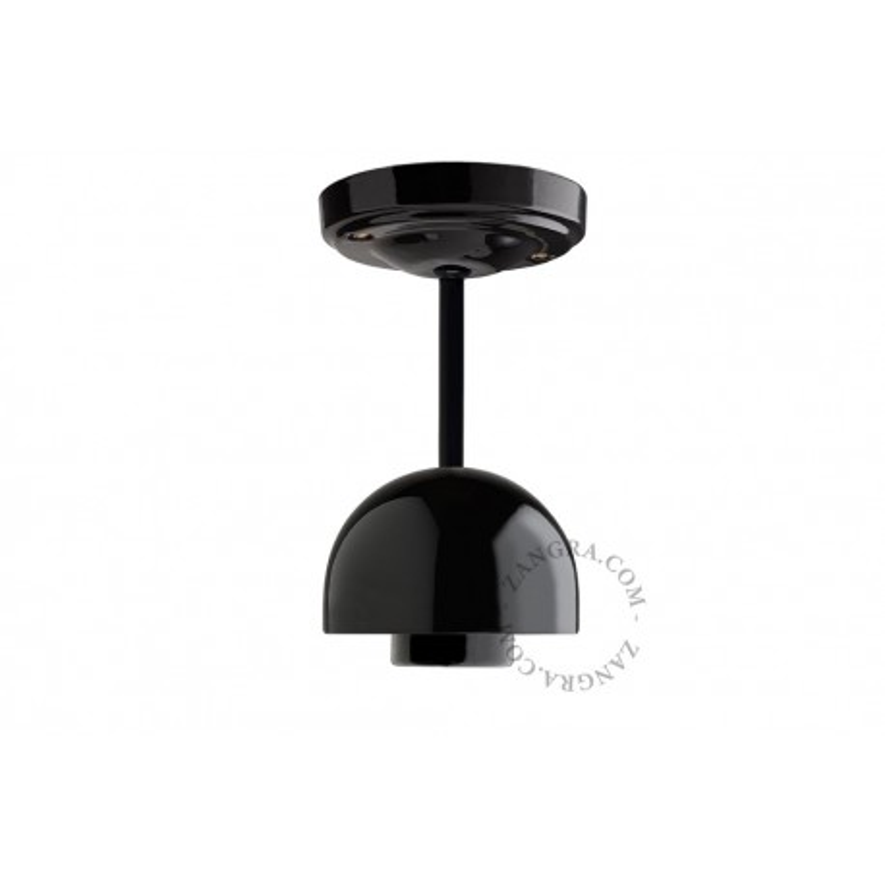 Hanging / ceiling lamp black porcelain light.036.023.b, E27 Zangra