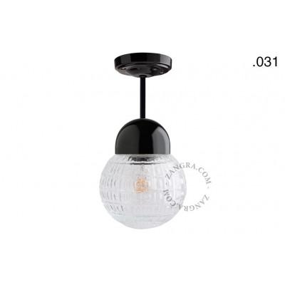 Hanging / ceiling lamp black porcelain light.036.023.b.031, E27 Zangra
