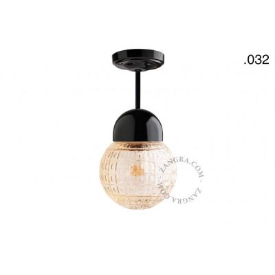Hanging / ceiling lamp black porcelain light.036.023.b.032, E27 Zangra