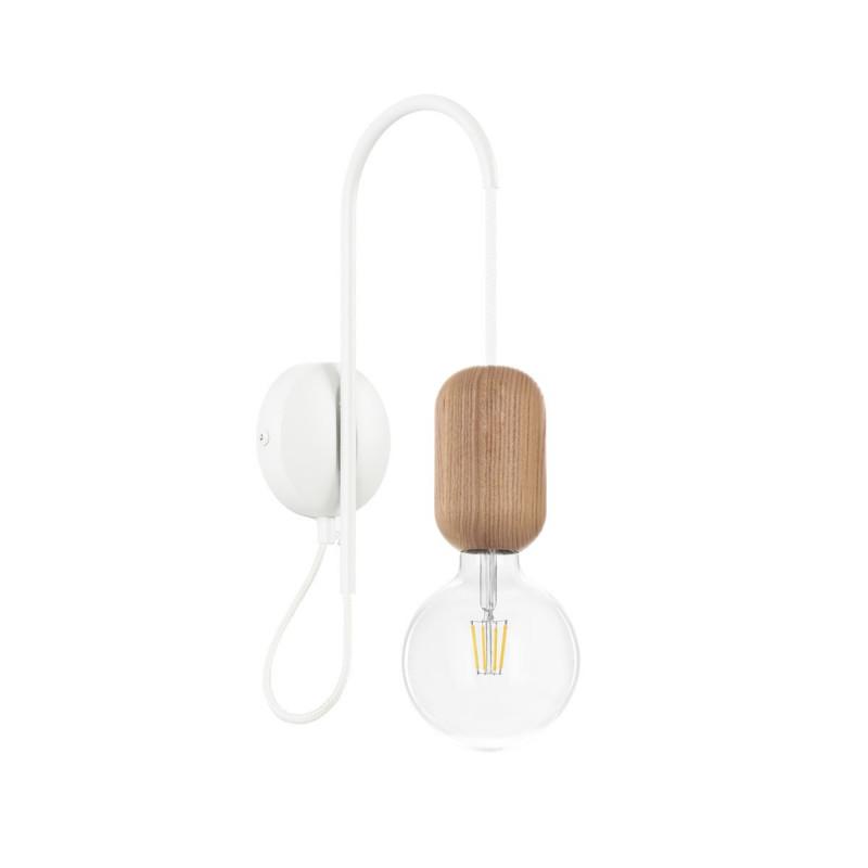 Wooden wall lamp Loft Barille E27 sconce KOLOROWE KABLE