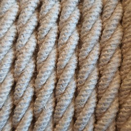 Twisted electric cable covered by Natural Jute J04 2x1x0.75