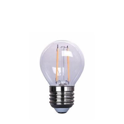 Plastic festoon light bulb LED 45mm 1W milky white warm light Polamp