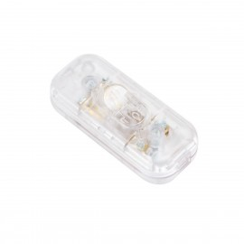 Double Pole in-line Switch Transparent Creative-Cables