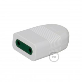 Two-Pole White Socket 10A P10, axial, not earthed Creative-Cables