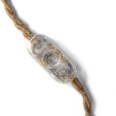 Jednobiegunowy włącznik światła suwakowy - przezroczysty projekt Achille Castiglioni Creative-Cables