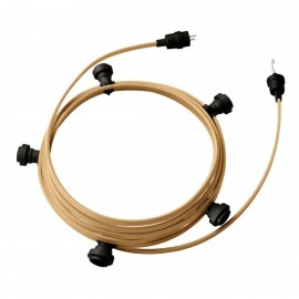 Ready-to-use 7,5m Lumet String Light with Kit with 5 black Lamp Holders, Hook and Plug Creative Cables