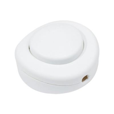 Jednobiegunowy włącznik światła nożny - biały Creative-Cables