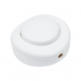 Single-pole foot light switch - white Creative-Cables