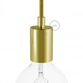 Gold metal bulb holder with E27 thread with a decorative cable lock Creative-Cables