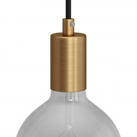 Metal bulb holder with E27 thread with a decorative cable lock - brushed bronze Creative-Cables
