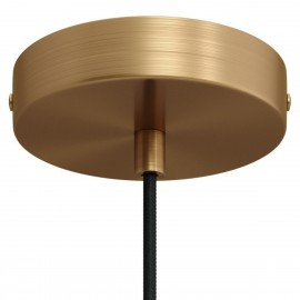 Metal ceiling cup with a decorative cable lock - brushed bronze Creative-Cables