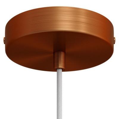 Metalowa maskownica sufitowa z dekoracyjną blokadą przewodu - miedź szczotkowana Creative-Cables