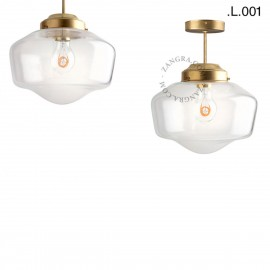 Brass ceiling lamp with a glass shade. Light. 128.004  sconce Zangra