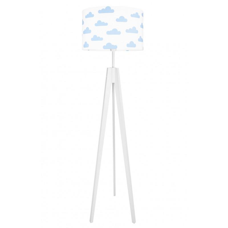 Lampa podłogowa chmurki błękitne