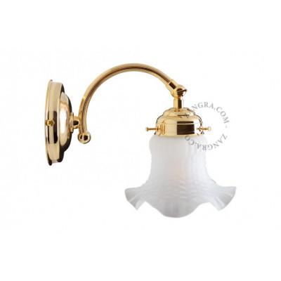 Lampa ścienna / kinkiet light.150.go.001 E14 Zangra