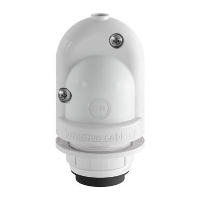 EIVA pierwsza zewnętrzna oprawka E27 IP65 z możliwością samodzielnego montażu - biała Creative-Cables