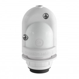 EIVA, the first outdoor E27 IP65 re-wirable lamp holder - white Creative-Cables