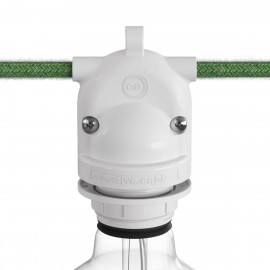 Eiva-2, 2-way outdoor lamp holder E27 and IP65 rating - white Creative-Cables