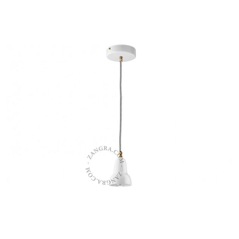 Hanging / ceiling lamp white ceramic ceilinglamp.127.w.063 E14 Zangra