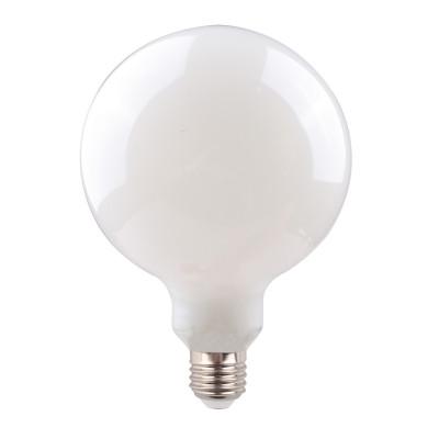 Mleczna żarówka dekoracyjna eco LED 125mm 7W ściemnialna Bulbo