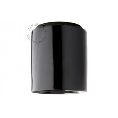 Lampa sufitowa, oprawka ceramiczna czarna ight.013.004  E14 Zangra