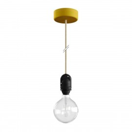 EIVA Yellow outdoor pendant lamp for lampshade with silicone ceiling rosette and IP65 waterproof holder Creative-Cables