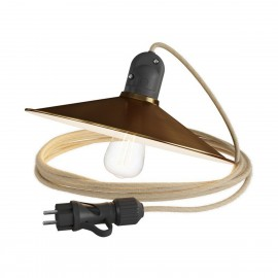 Eiva Snake z kloszem Swing brąz przenośna lampa zewnętrzna 5m wodoodporna oprawka i wtyczka IP65 Creative-Cables