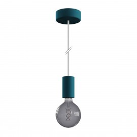 EIVA ELEGANT Petrol outdoor pendant lamp with silicone ceiling rosette and IP65 waterproof holder Creative-Cables