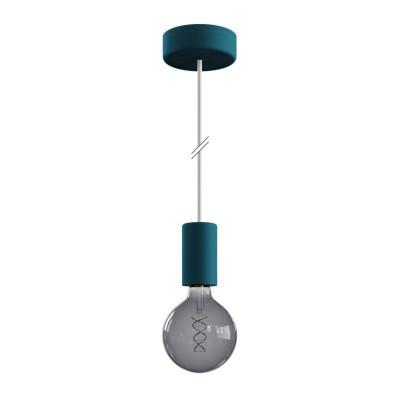 EIVA ELEGANT Petrol zewnętrzna lampa wisząca z silikonową rozetą sufitową i oprawką wodoodporną IP65 Creative-Cables