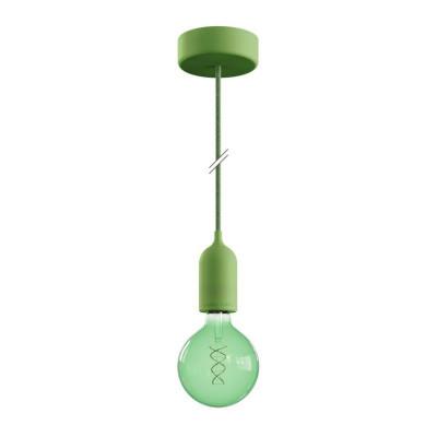 EIVA PASTEL Zielona zewnętrzna lampa wisząca z silikonową rozetą sufitową i oprawką wodoodporną IP65 Creative-Cables