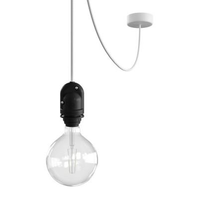 EIVA Zewnętrzna lampa wisząca na abażur z silikonową rozetą sufitową i oprawką wodoodporną IP65 Creative-Cables