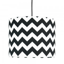 Black Chevron MINI Lampshade Ø25cm