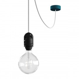 EIVA Outdoor Petrol outdoor pendant lamp for lampshade with silicone ceiling rosette and IP65 waterproof holder Creative-Cables
