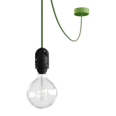 EIVA Outdoor Zielona zewnętrzna lampa wisząca na abażur z silikonową rozetą sufitową i oprawką wodoodporną IP65 Creative-Cables