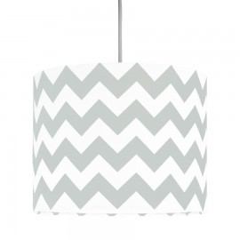 Grey Chevron MINI Lampshade Ø25cm