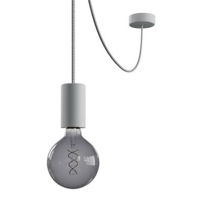 EIVA ELEGANT Outdoor Szara zewnętrzna lampa wisząca z silikonową rozetą sufitową i oprawką wodoodporną IP65 Creative-Cables