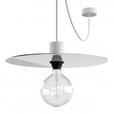 EIVA ELEGANT Ellepì Biała Lampa wisząca z silikonową rozetą sufitową i oprawką wodoodporną IP65 Creative-Cables