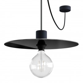 EIVA ELEGANT Ellepì Black Hanging lamp Ellepì with a silicone ceiling rosette and a waterproof fitting IP65 Creative-Cables