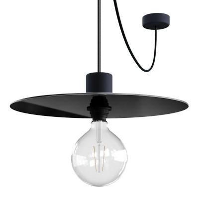 EIVA ELEGANT Ellepì Czarna Lampa wisząca z silikonową rozetą sufitową i oprawką wodoodporną IP65 Creative-Cables