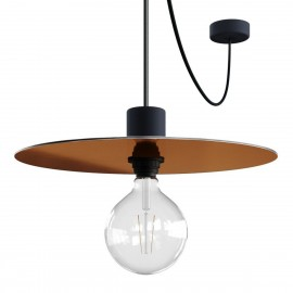 EIVA ELEGANT Ellepì metalik Hanging lamp Ellepì with a silicone ceiling rosette and a waterproof fitting IP65 Creative-Cables