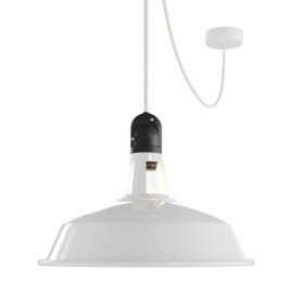 EIVA Outdoor Harbour White Outdoor Pendant Lamp with Silicone Ceiling Rosette and IP65 Waterproof Lampholder Creative-Cables