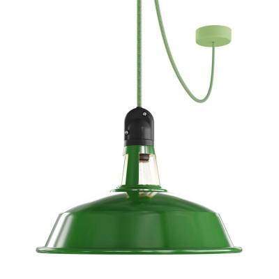 EIVA Outdoor Harbour Zielona zewnętrzna lampa wisząca z silikonową rozetą sufitową i oprawką wodoodporną IP65 Creative-Cables