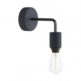 Black wall lamp Fermaluce EIVA ELEGANT sconce for lampshade L-shaped waterproof IP65 Creative-Cables