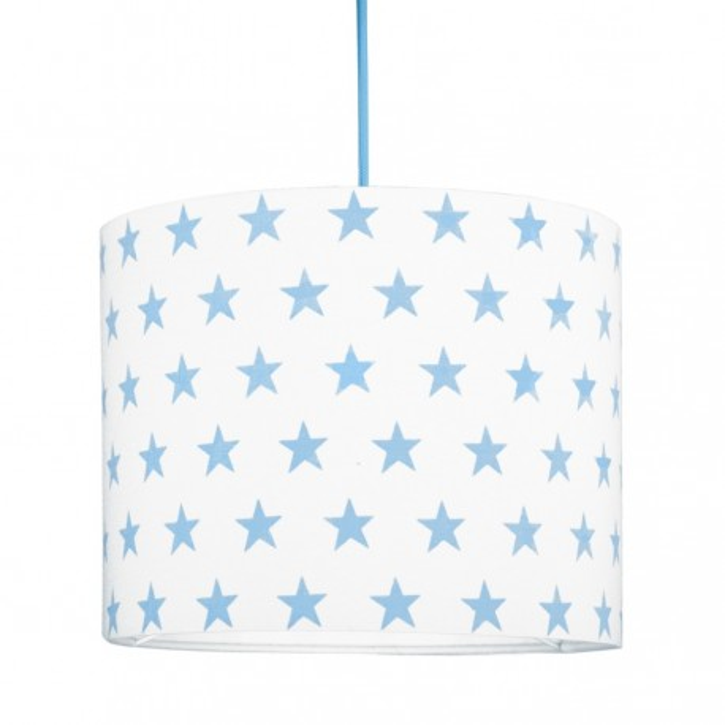 Light blue Stars MINI Lampshade Ø25cm