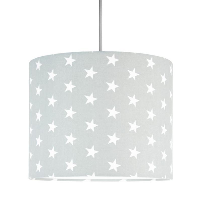 White stars on grey MINI Lampshade Ø25cm