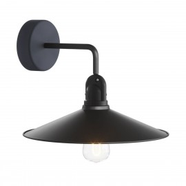 Black wall lamp Fermaluce EIVA wall lamp with a SWING shade IP65 waterproof Creative-Cables