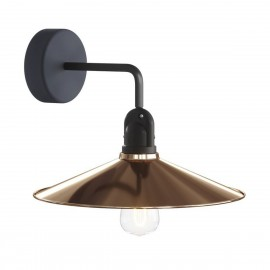 Copper wall lamp Fermaluce EIVA wall lamp with a SWING shade IP65 waterproof Creative-Cables