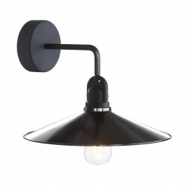 Black & White wall lamp Fermaluce EIVA wall lamp with a SWING shade IP65 waterproof Creative-Cables