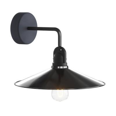 Czarno biała lampa ścienna Fermaluce EIVA kinkiet z kloszem SWING wodoodporność IP65 Creative-Cables