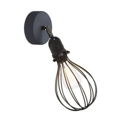 Czarny kinkiet Fermaluce EIVA z kloszem Drop, regulowanym przegubem i oprawką wodoodporną IP65 Creative-Cables
